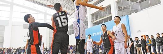 公司举行绽放青春风采篮球比赛!
